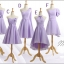 พร้อมส่ง ชุดราตรีสั้น ชุดเพื่อนเจ้าสาว สีม่วงอ่อน Lavender Lv-001C thumbnail 7
