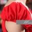 พร้อมเช่า ชุดราตรียาว สีแดง มีแขน แบบเปรี้ยวอมหวาน ปักเลื่อมช่วงคอ หลังผ่าตัววี thumbnail 8