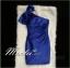 พร้อมส่ง ชุดราตรี สีน้ำเงิน บ่าเฉียง ทรงเข้ารูป ผ้าซาติน แต่งโบว์ที่ไหล่ (ซิปหลัง) thumbnail 4