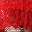 พร้อมส่ง ชุดราตรีสั้น สีแดง ไหล่เฉียง แต่งลูกไม้ทั้งชุดเข้ารูป ผ้าคาดเอวซาติน thumbnail 5