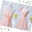 พร้อมส่ง ชุดราตรีสั้น สีชมพูอ่อน ชุดเพื่อนเจ้าสาว Pink-001B thumbnail 2