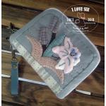 กระเป๋าสองซิปย่อขนาดลายดอกไม้วินเทจ - สั่งทำ