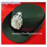 หมวกหม้อตาลตำรวจ สีกากี / สีขาว