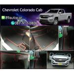 ผ้ายางปูพื้นรถยนต์เข้ารูป Chevrolet Colorado Cab ลายธนูสีดำขอบแดง