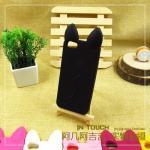 เคสยางนิ่ม Iphone 4/4s Koko Cat-สีดำ