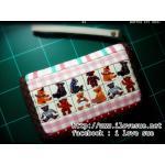 กระเป๋าสองซิปลายหมี ผ้าแคนวาสญี่ปุ่น - สั่งทำค่ะ