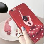 เคส tpu เจ้าหญิงติดเพชร แดงกำมะหยี่ ไอโฟน 74.7 นิ้วใช้ภาพรุ่นอื่นแทน)-ชุดแดง-1
