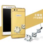 เคส OPPO Joy 5 / Neo 5s รุ่น Aluminium Hybrid Mirror Back (เคสฝาหลังเงา) สีทอง