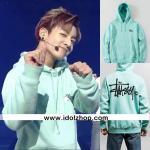 เสื้อฮูดแขนยาว เสื้อแฟชั่นเกาหลี BTS Jungkook Jiu สีเขียว : XXL