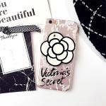 เคส tpu ดอกไม้ซ่อนกระจก ไอโฟน 6/6s plus 5.5 นิ้วสีขาว