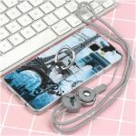 เคส Samsung A5 2016 ซิลิโคน soft case สกรีลายน่ารักๆ พร้อมแหวานมือถือและสายคล้องเข้าชุดกัน แบบที่ 6