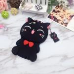 เคสซิลิโคนแมวอ้วน 3D ไอโฟน 7 plus(5.5 นิ้ว)-สีดำ