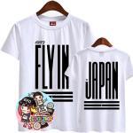 เสื้อยืด GOT7 FLY IN JAPAN : สีขาว - ดำ XXL