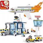 เครื่องบิน (Airplane) SLUBAN-0367. ตัวต่อเลโก้จีน เครื่องบินพาณิชย์ พร้อมหอบังคับการบิน 678 ชิ้น ส่งฟรี EMS