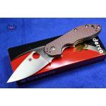 Spyderco Domino Red Weave Carbon Fiber C172CFRDTIP