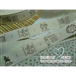 ป้ายผ้า Zakka ญี่ปุ่น ลาย Ann&Andy Handmade 1 เมตร 19 บล็อก
