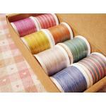 ด้ายควิลท์ SK 100%Cotton เส้นโต #50 ชุดละ 8 สี บรรจุกล่องกระดาษ