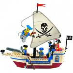 โจรสลัด (Pirate) ENLIGHTEN-304. ตัวต่อเลโก้จีน เรือโจรสลัดขาวเล็ก