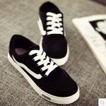 รองเท้าผ้าใบเกาหลี (สีดำ 40)