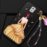เคส Samsung Note 3 พลาสติกลายผู้หญิงแสนสวย พร้อมที่คล้องมือ สวยมากๆ แบบที่ 4
