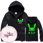 เสื้อแฟชั่นแขนยาว เสื้อคลุม เสื้อกันหนาว B.A.P LOGO 2014 : Jongup สีเขียว : XL