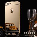 เคส iPhone 6s / iPhone 6 (4.7 นิ้ว) ขอบเคสโลหะ Bumper + พร้อมแผ่นฝาหลังเงางามสวยจับตา แบบที่ 1