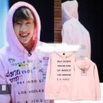 เสื้อแฟชั่นเกาหลี เสื้อฮูดแขนยาว เสื้อกันหนาวแฟชั่น GOT7 Mark : สีชมพู XXL