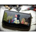 กระเป๋าเงินใบยาว ผ้าทอญี่ปุ่น เทคนิค Applique - สินค้าสั่งทำ