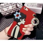 เคสนิ่มลายผู้หญิง 3Dห้อยพู่แต่งเพชร ไอโฟน74.7 นิ้ว(ใช้ภาพรุ่นอื่นแทน)-สีแดง