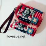 กระเป๋าเงินใบสั้น สามพับ ผ้าคอตตอนอเมริกา Pre Order - ส่งฟรีค่ะ