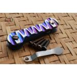 Key Bar Carved Silver/Multicolor Heat Treated Titanium CNC Milled
