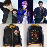 เสื้อแฟชั่นเกาหลี เสื้อกันหนาวแฟชั่น EXO LUHAN Lee Jung Sok สีดำ : XL