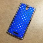 Case OPPO Mirror 3 ลายฝังเพชร สีน้ำเงิน