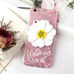 เคส tpu ดอกไม้ซ่อนกระจก ไอโฟน 6/6s plus 5.5 นิ้ว-ชมพู