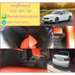 โรงงานขายพรมไวนิลปูพื้นรถยนต์เข้ารูป BMW 320 F30 สีดำขอบดำด้ายแดง