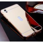 เคส Vivo Y51 รุ่น Aluminium Hybrid Mirror Back (เคสฝาหลังเงา) สีทอง