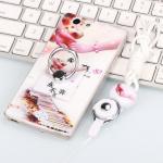 เคส Oppo Joy 5 / Neo 5s ซิลิโคน soft case สกรีลายน่ารักๆ พร้อมแหวานมือถือและสายคล้องเข้าชุดกัน แบบที่ 9