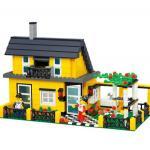 บ้าน (House) WANGE-32051. ตัวต่อเลโก้จีน บ้านเขียว