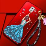 เคส Samsung Note 3 พลาสติกลายผู้หญิงแสนสวย พร้อมที่คล้องมือ สวยมากๆ แบบที่ 1