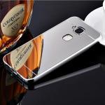 เคส Huawei G7 Plus รุ่น Aluminium Hybrid Mirror Back (เคสฝาหลังเงา) สีเงิน