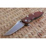 "RHK 3.5"" EKLIPSE GEN2 BOWIE StonewashFinished Black/Orange G-10"