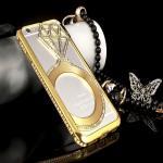 เคสไอโฟน 6-4.7 นิ้ว Shengo ลายเพชร ฝาประกบแหวนเพชร-สีทอง
