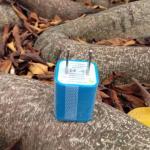 หัวปลั๊กเต๋า Iphone -สีฟ้า