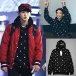 เสื้อแฟชั่นนักร้องเกาหลี เสื้อกันหนาวแฟชั่น EXO CHANYEOL iKON BOBBY : สีดำ XXL