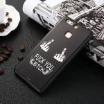 เคส Huawei P9 รุ่น Black 3D (เคสนิ่ม) #8