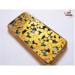 เคสยางนิ่ม ฉลุลายดอกไม้ Iphone 6/6s 4.7 นิ้ว-ทอง