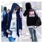 เสื้อแฟชั่นเกาหลี เสื้อแจ็คเก็ต เสื้อกันหนาว GOT7 Jiaer แจ็คสันมาร์ค (สีดำ) : XXL