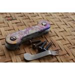 Key Bar Splatter Anodized Treated Titanium