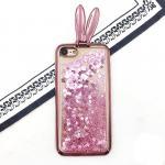 เคสตู้กากเพชรหูกระต่าย ไอโฟน 74.7 นิ้ว(ใช้ภาพรุ่นอื่นแทน)pink gold