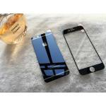 ฟิล์มกระจกลายการ์ตูน Iphone 6-4.7 หน้า-หลัง-ลายโลโก้ apple-สีดำ